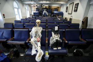 La sala de prensa de la casa presidencial Foto:AFP. Imagen Por: