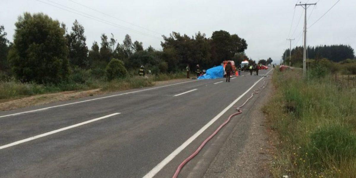 Marchigue: choque deja 4 fallecidos y una persona con riesgo vital