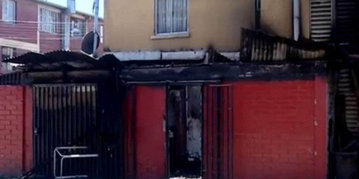 Quilicura: hombre muere baleado y familia quema departamentos de presuntos autores