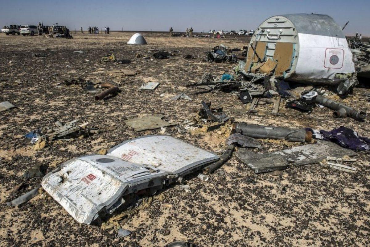 Se estrelló en la Península del Siani, en Egipto Foto: AFP. Imagen Por: