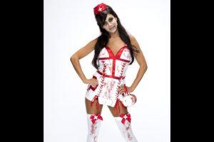 Rosa Mendes como enfermera zombie. Foto:WWE. Imagen Por: