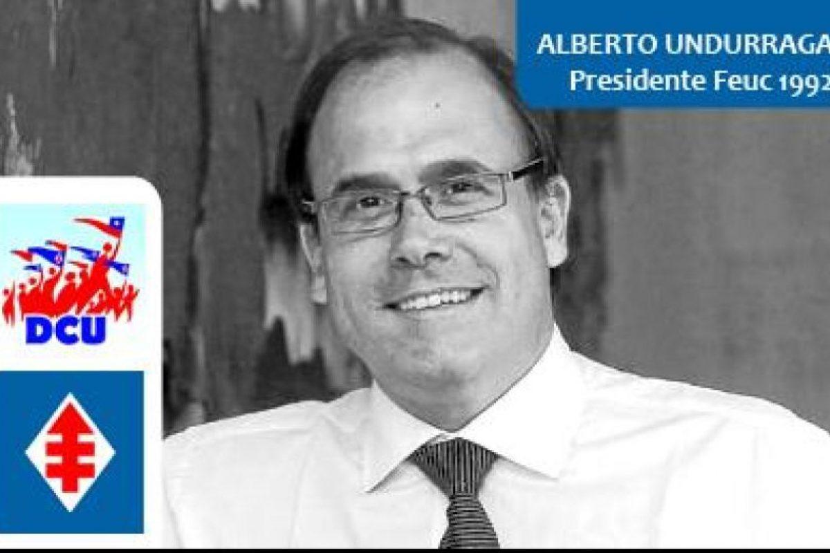 Alberto Undurraga, DC Ministro OOPP. Presidente Feuc 1992 Foto:Reproducción. Imagen Por: