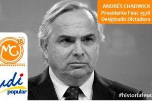 Andrés Chadwick, UDI ex Ministro. Presidente Feuc 1978 Foto:Reproducción. Imagen Por: