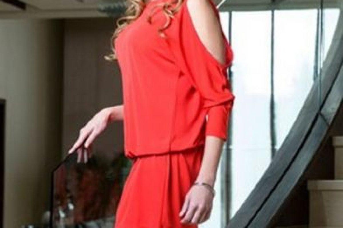 Rutila Casillas era Emma Coronel Aispuro, papel realizado por Carmen Aub Foto:Telemundo. Imagen Por: