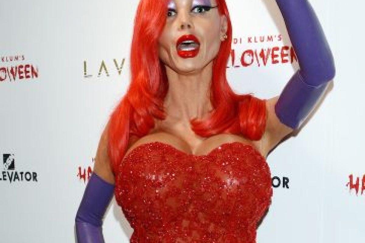 """Este año, la modelo se conviritió en """"Jessica Rabbit"""" Foto:Grosby Group. Imagen Por:"""