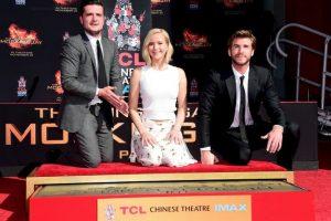 Jennifer Lawrence, Josh Hutcherson y Liam Hemsworth dejaron su marca en este icónico lugar. Foto:Getty Images. Imagen Por:
