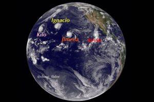 1. El 3 de septiembre se formaron 4 ciclones tropicales en el Pacífico Foto:Twitter.com – Archivo. Imagen Por: