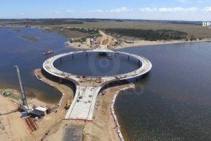 Los trabajos de construcción del puente comenzaron en marzo de 2014. Foto:Vía facebook.com/dronalo/. Imagen Por:
