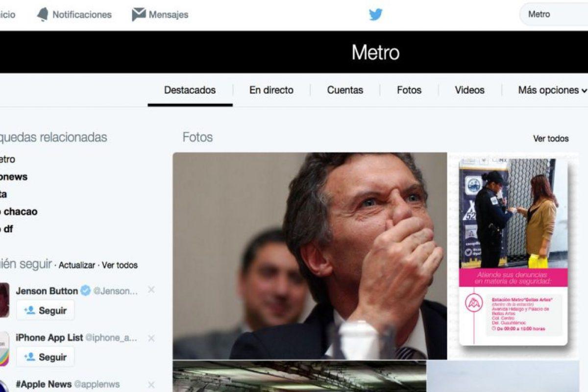 La red también ha cambiado la forma de buscar información dentro de su interfaz. Así es como luce ahora Foto:Twitter. Imagen Por:
