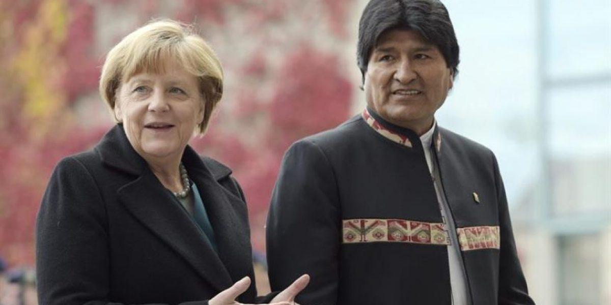 Merkel tras cita con Evo: