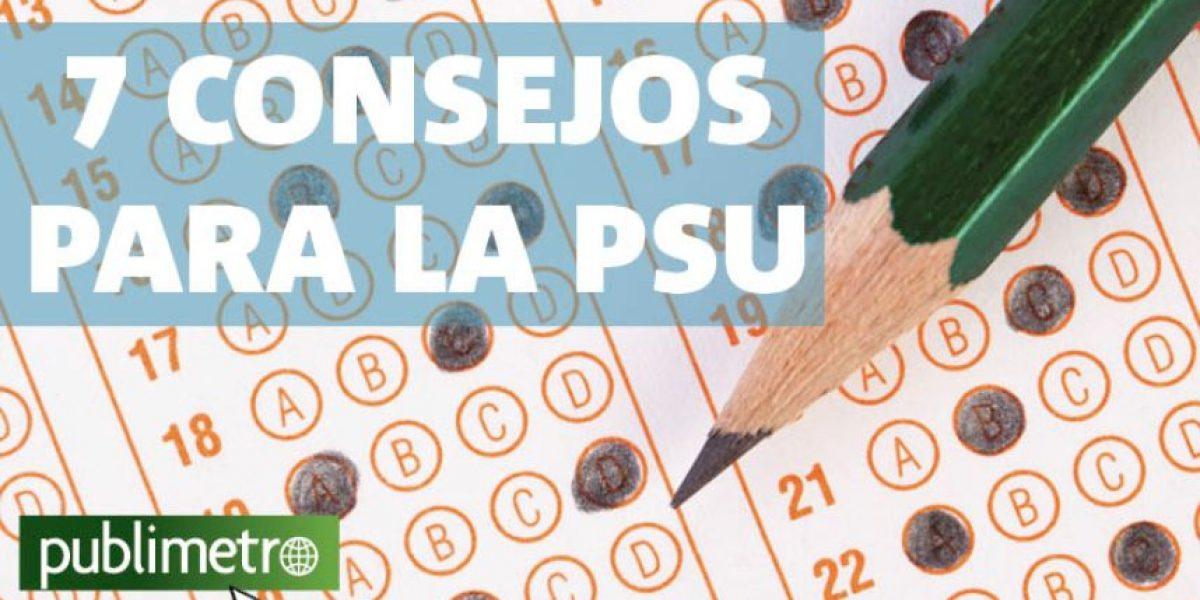 Infografía: Siete consejos para la PSU