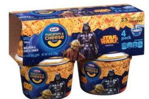 """Macarrones con queso """"Easy Mac"""" edición """"Star Wars"""" Foto:Kraft. Imagen Por:"""