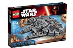 """La versión Lego del """"Halcón Milenario con las figuras de """"Han Solo"""" y """"Chewie"""" Foto:Lego. Imagen Por:"""