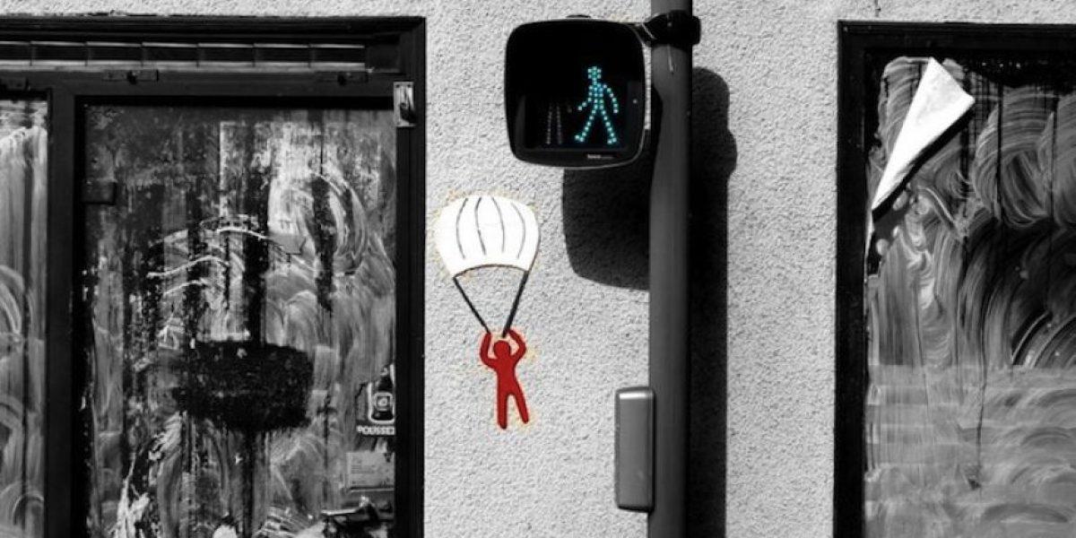 17 imágenes del más divertido arte callejero por OakOak