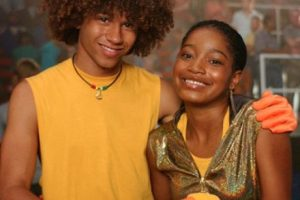 """Palmer se besó por primera vez con Corbin Bleue cuando solo tenía 12 años en la cinta de Disney """"Jump in!"""" Foto:Disney. Imagen Por:"""