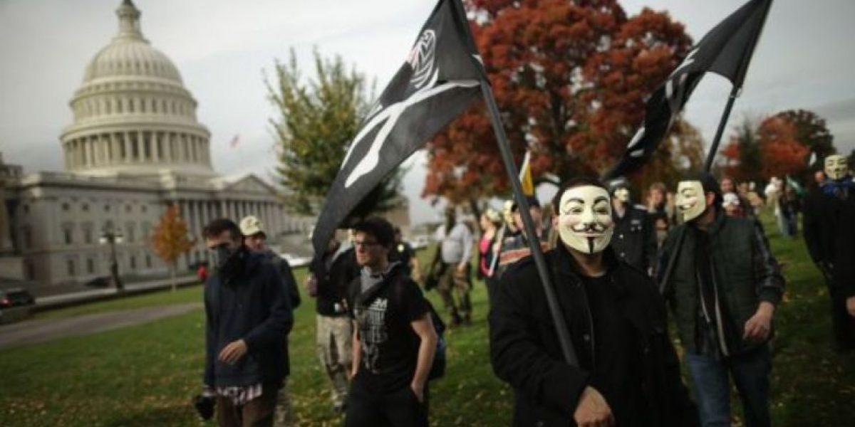 Anonymus se pone la máscara en más  600 ciudades del mundo