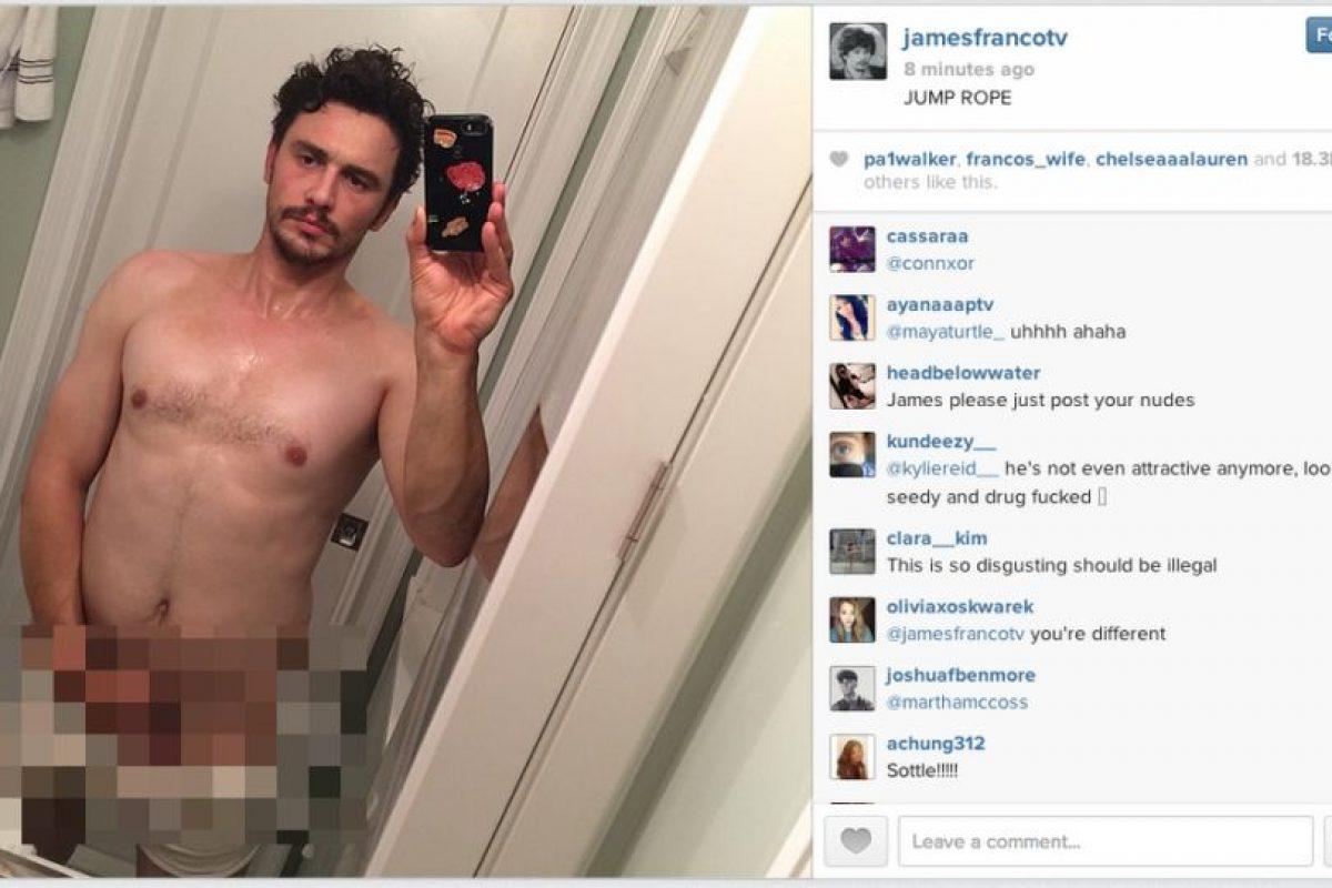 El actor y comediante reveló esta imagen en Instagram, pero la eliminó minutos después por la censura de Instagram. Foto:vía instagram.com/jamesfranco. Imagen Por: