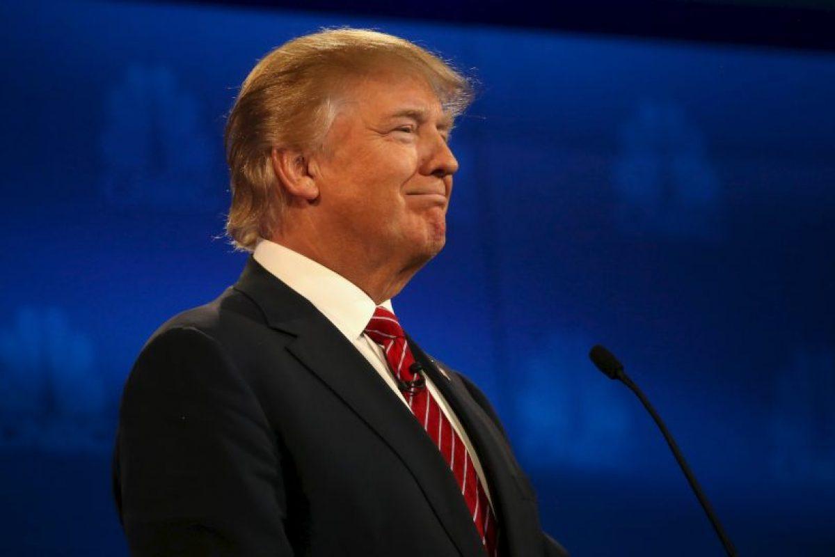El ahora político reafirmó que de ser presidente de Estados Unidos construirá un muro entre el país y México para frenar la inmigración ilegal. También volvió a decir que hará que México pague dicha construcción. Foto:Getty Images. Imagen Por: