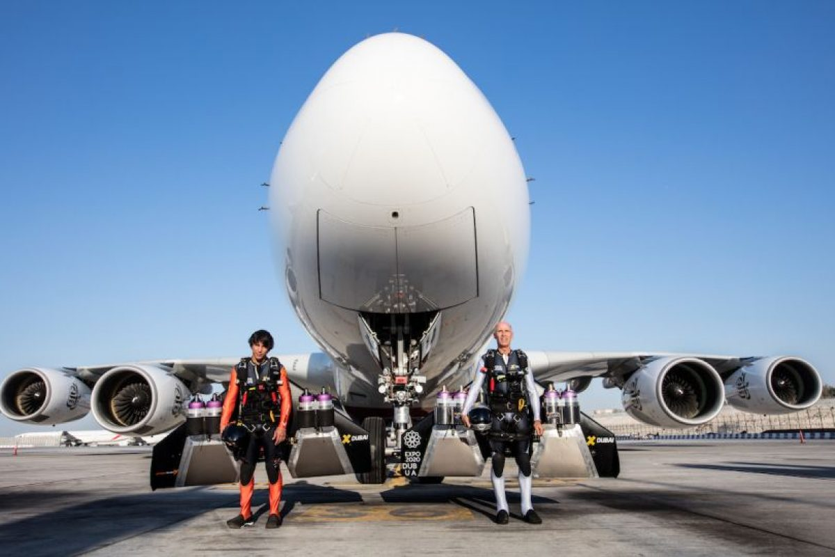 El proyecto Jetman Dubai está formada por Yves Rossy y Vince Reffet. Foto:Vía jetman.com. Imagen Por: