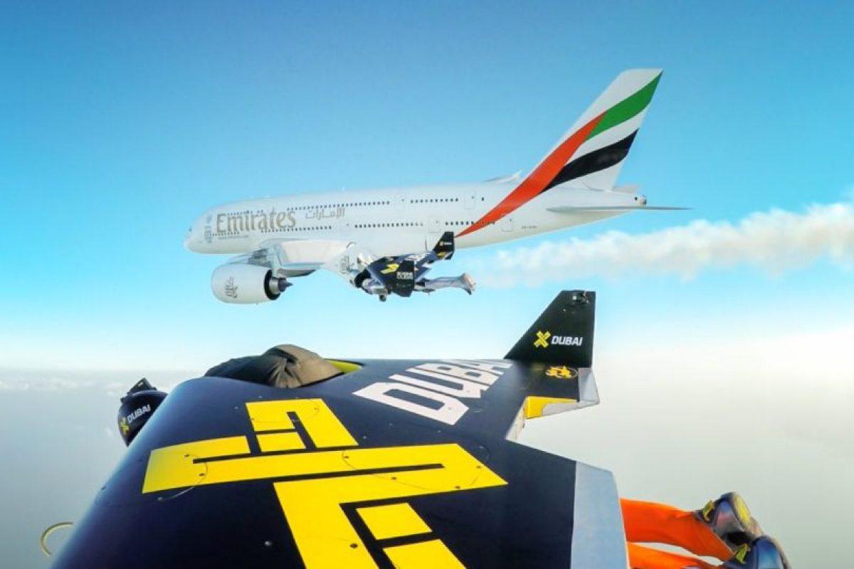 El avión de pasajeros A380 de la aerolínea Emirates es el más grande del mundo. Foto:Vía Twitter.com/jetmandubai. Imagen Por: