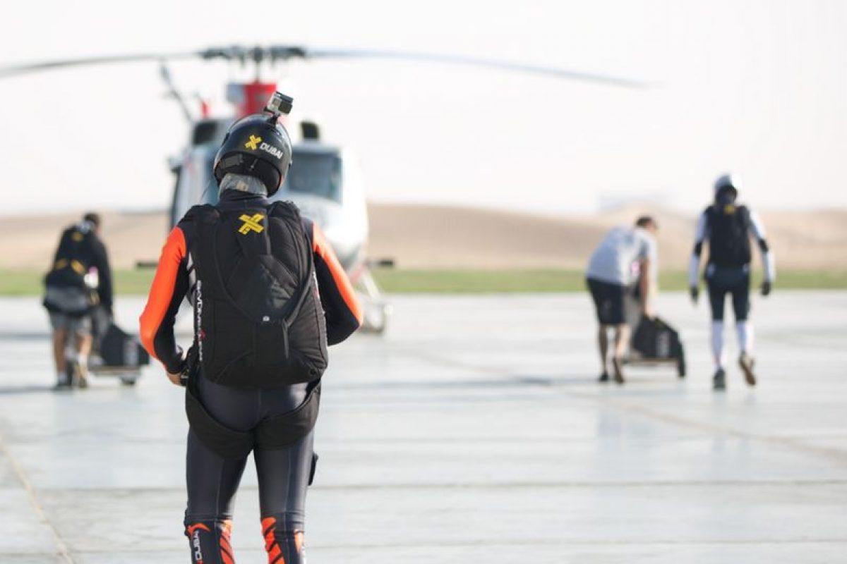 El vuelo en conjunto se planeó durante tres meses. Foto:Vía Twitter.com/jetmandubai. Imagen Por: