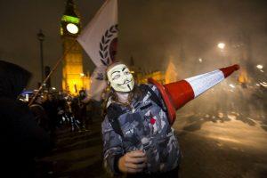 Protesta anticapitalista en Gran Bretaña. Foto:AFP. Imagen Por: