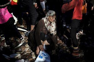 Refugiados y migrantes en la isla griega Lesbos. Foto:AFP. Imagen Por: