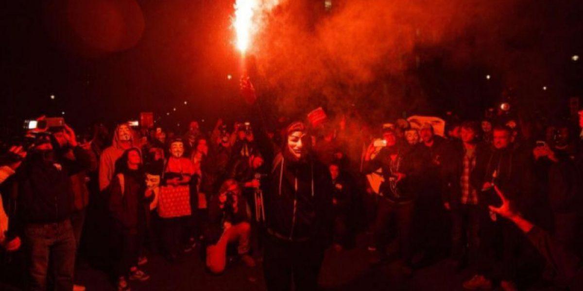 La manifestación de Anonymous en Londres se salda con decenas de detenidos