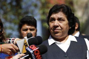 Nelly Díaz, vocera de los trabajadores movilizados. Foto:Agencia Uno. Imagen Por: