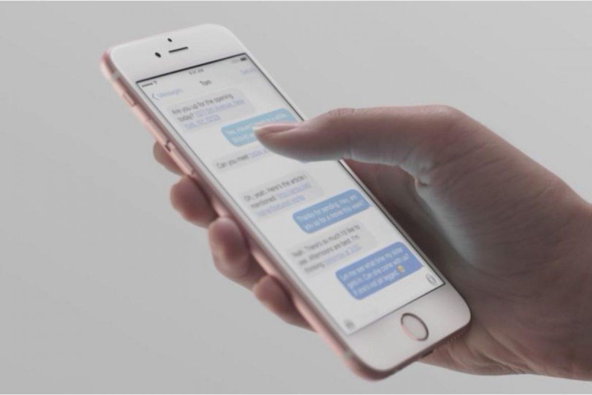 Por primera ocasión, Apple incorpora un sistema multitouch para detectar la intensidad con la que ejercen presión sobre la pantalla del teléfono inteligente. Es de gran utilidad para ingresar a menús, vistas previas de contenido, entre muchas acciones más. Foto:Apple. Imagen Por: