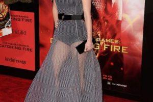 Ese mismo año, sorprendió a los fans con este vestido largo semitransparente. Foto:Getty Images. Imagen Por: