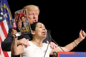 """Recientemente Trump presentó su libro """"Crippled América"""". Foto:Getty Images. Imagen Por:"""