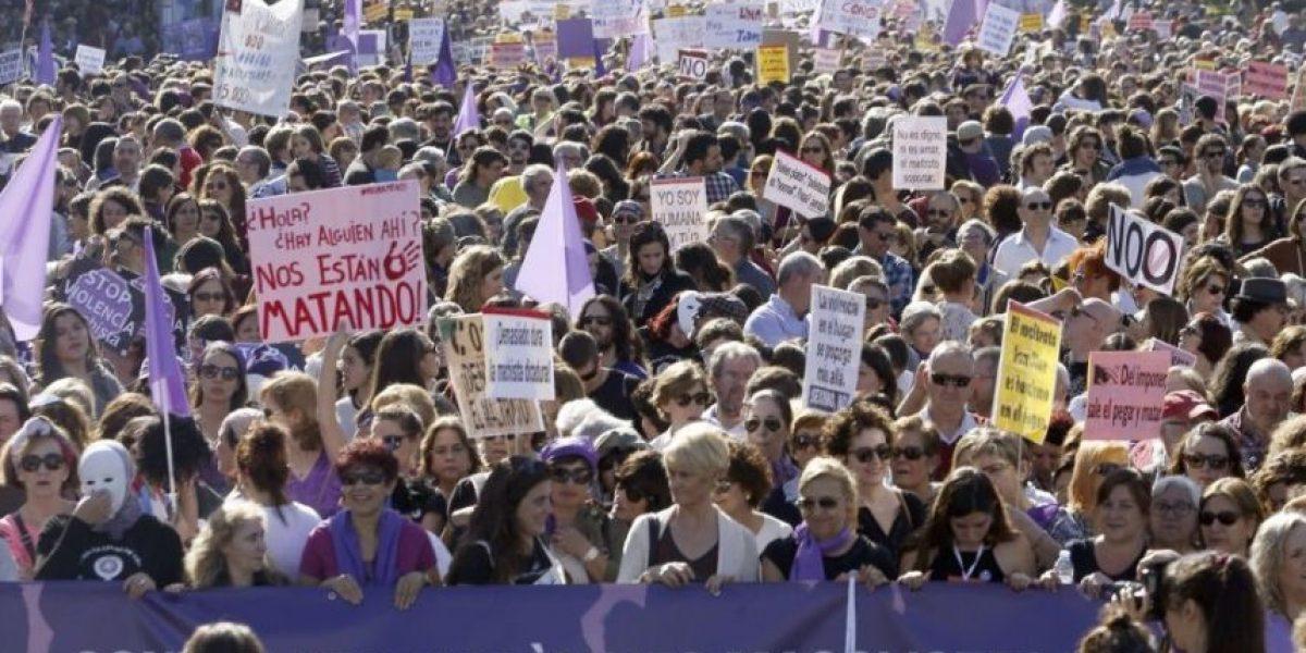Así fue la marcha en Madrid contra la violencia machista