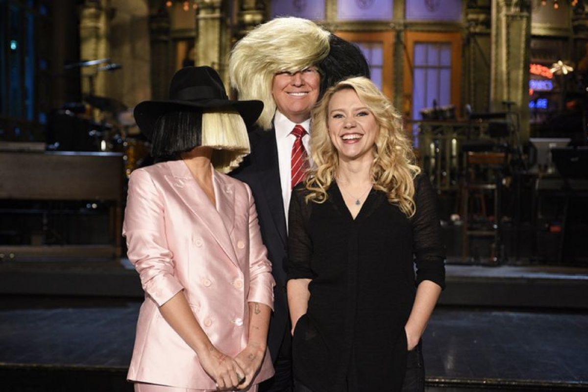 Todo ocurrió durante el promocional en el que el precandidato aparecerá. Foto:Vía Twitter @SNL. Imagen Por: