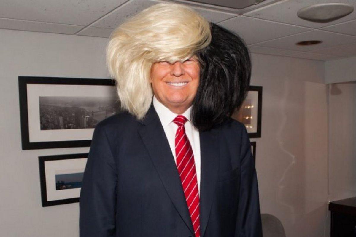 El magnate solo hizo una imitación de la cantante australiana Sia. Foto:Vía Twitter @realDonaldTrump. Imagen Por: