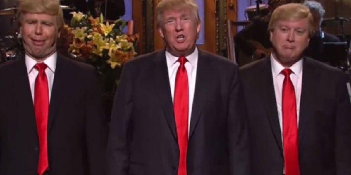 Donald Trump se rió de sí mismo en