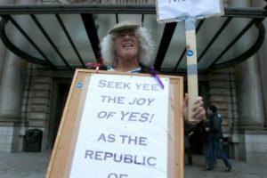 """La agrupación política """"Scotland Yes"""" fue la primera representante de la campaña por el """"Sí"""" Foto: Getty Images. Imagen Por:"""