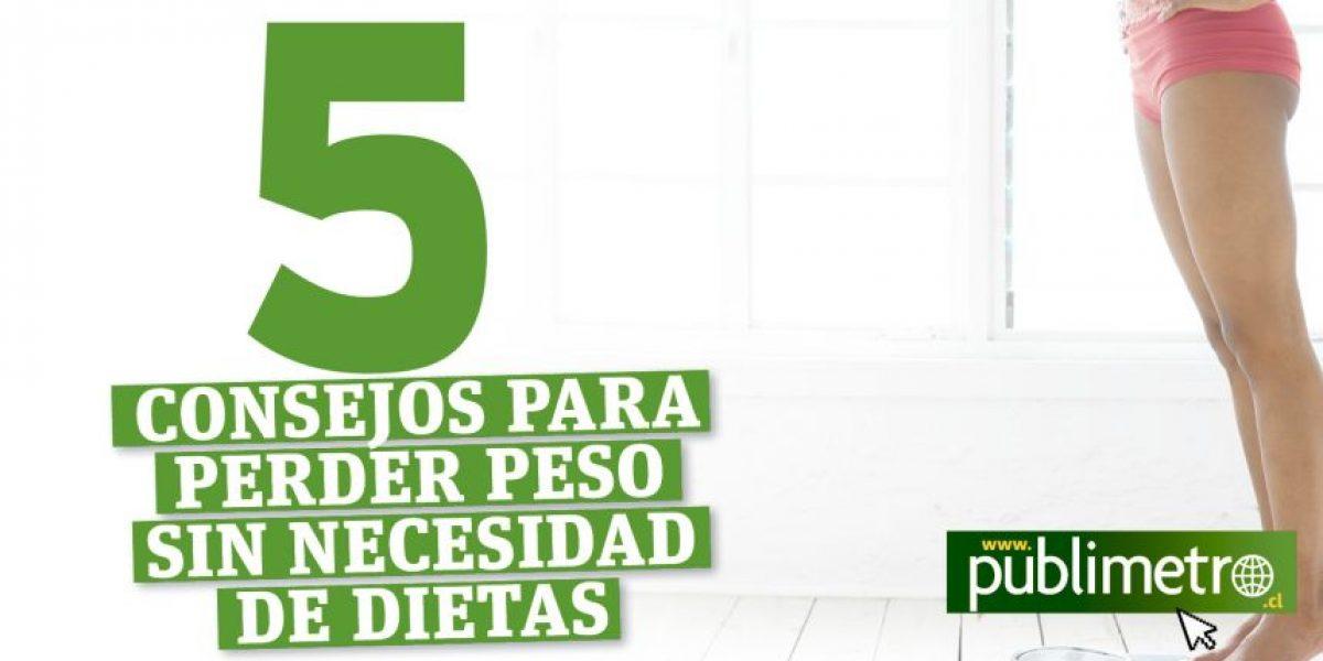 Infografía: Cinco consejos para perder peso sin necesidad de dietas
