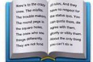"""Este libro contiene parte del comercial de Apple de 1997 llamado """"Piensa diferente"""". Foto:Pinterest. Imagen Por:"""