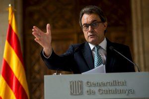 """""""Queremos una estructura de Estado dentro del Euro y la Unión Europea"""", dijo Mas el pasado 12 de septiembre Foto:Getty Images. Imagen Por:"""