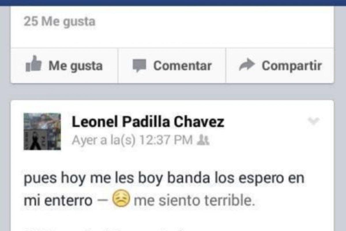 Leonel Padilla tenía 20 años. Foto:Vía facebook.com/besepianoswoan. Imagen Por:
