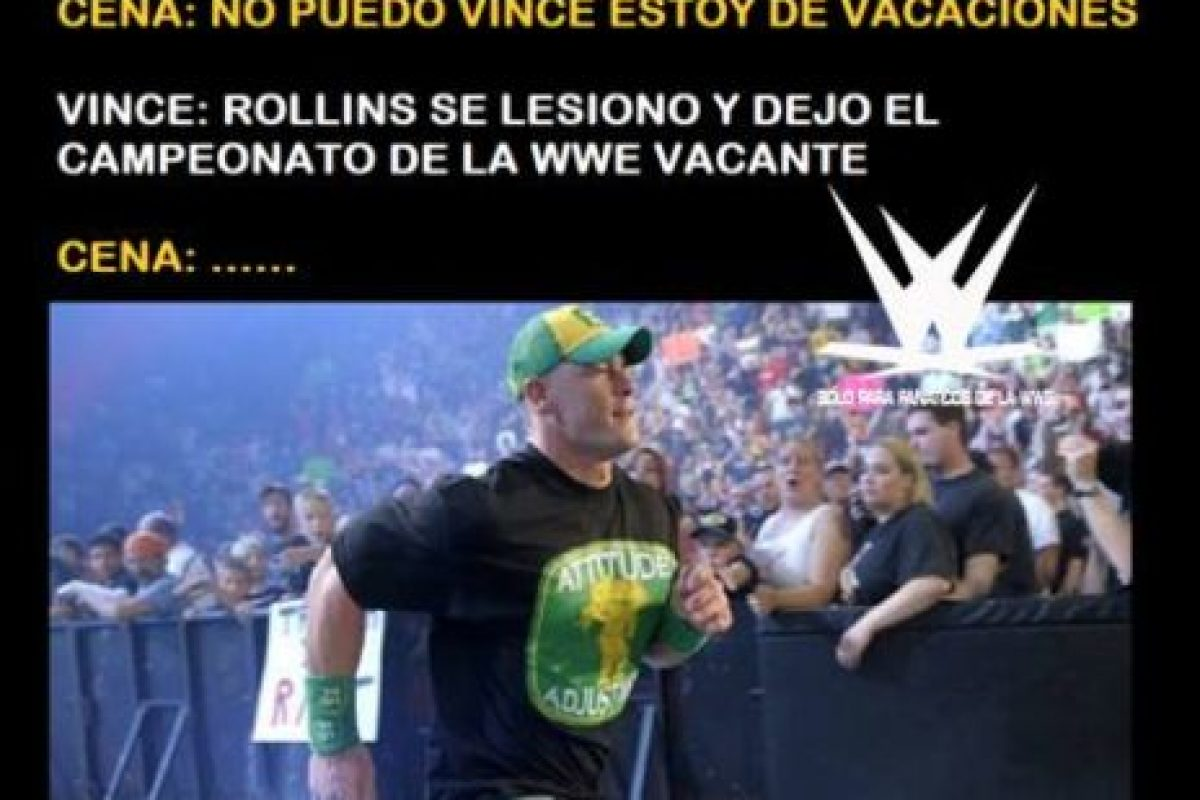 WWE: Los mejores memes por la lesión de Seth Rollins Foto:Twitter. Imagen Por: