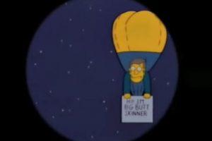 """6- """"El cometa de Bart"""" (6×14): Ahí, el pequeño Simpson le dice a su amigo """"corre hasta la Patagonia"""". Foto:Captura Youtube. Imagen Por:"""