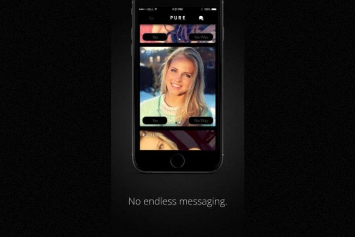 """""""Sin mensajes eternos"""". La app promete conectarlos con quien esté buscando tener sexo Foto:GetPure.org. Imagen Por:"""