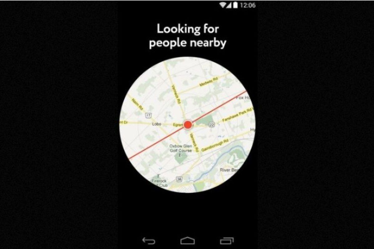Buscará a quienes quieran conocerles dependiendo de su selfie y su ubicación Foto:GetPure.org. Imagen Por: