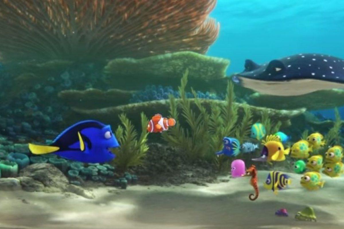 """Después de ir a una clase con """"Nemo"""", """"Dory"""" se siente nostálgica por su casa y empieza una búsqueda sobre sus orígenes Foto:Disney. Imagen Por:"""