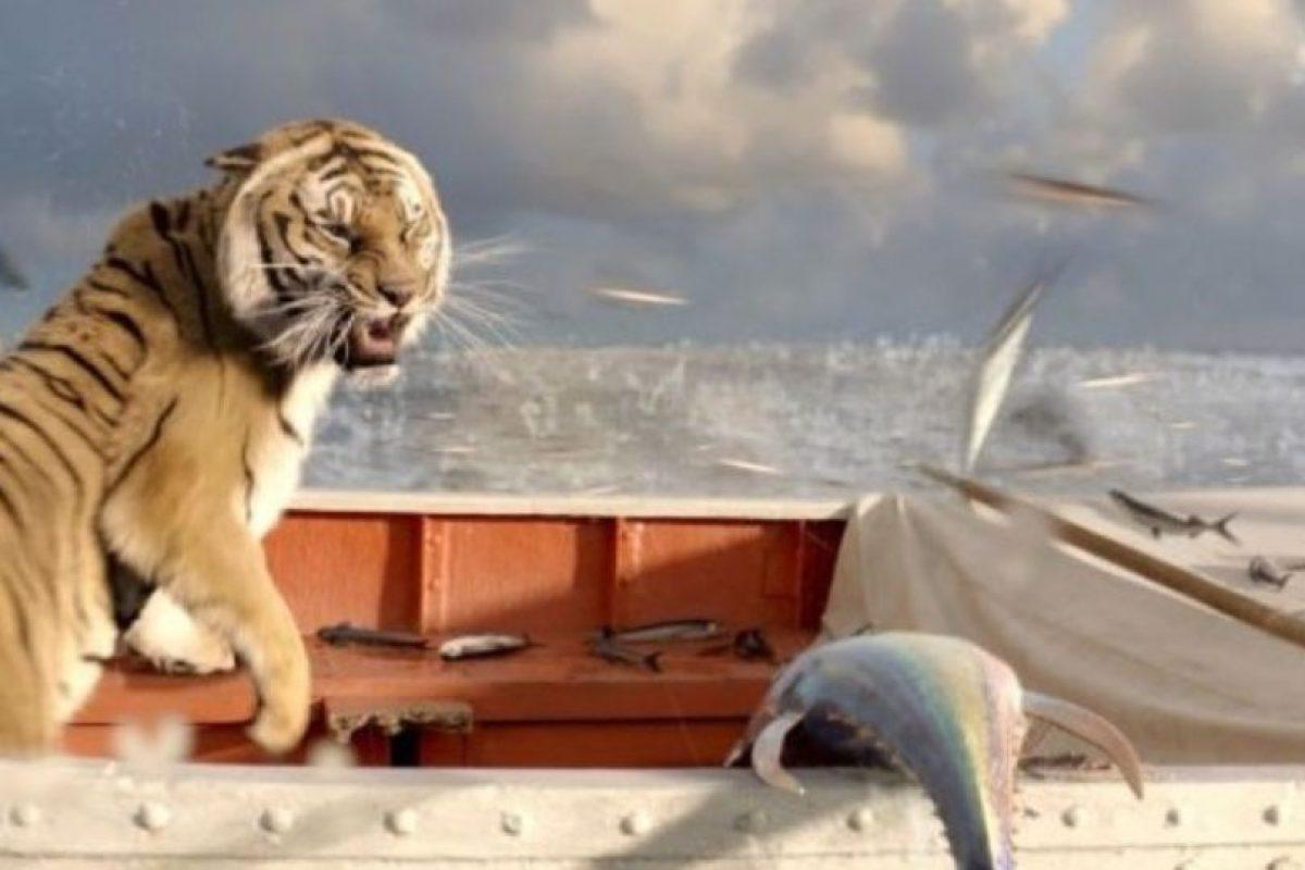 """13- El tigre de """"Una Aventura Extraordinaria"""". Foto:IMDB. Imagen Por:"""