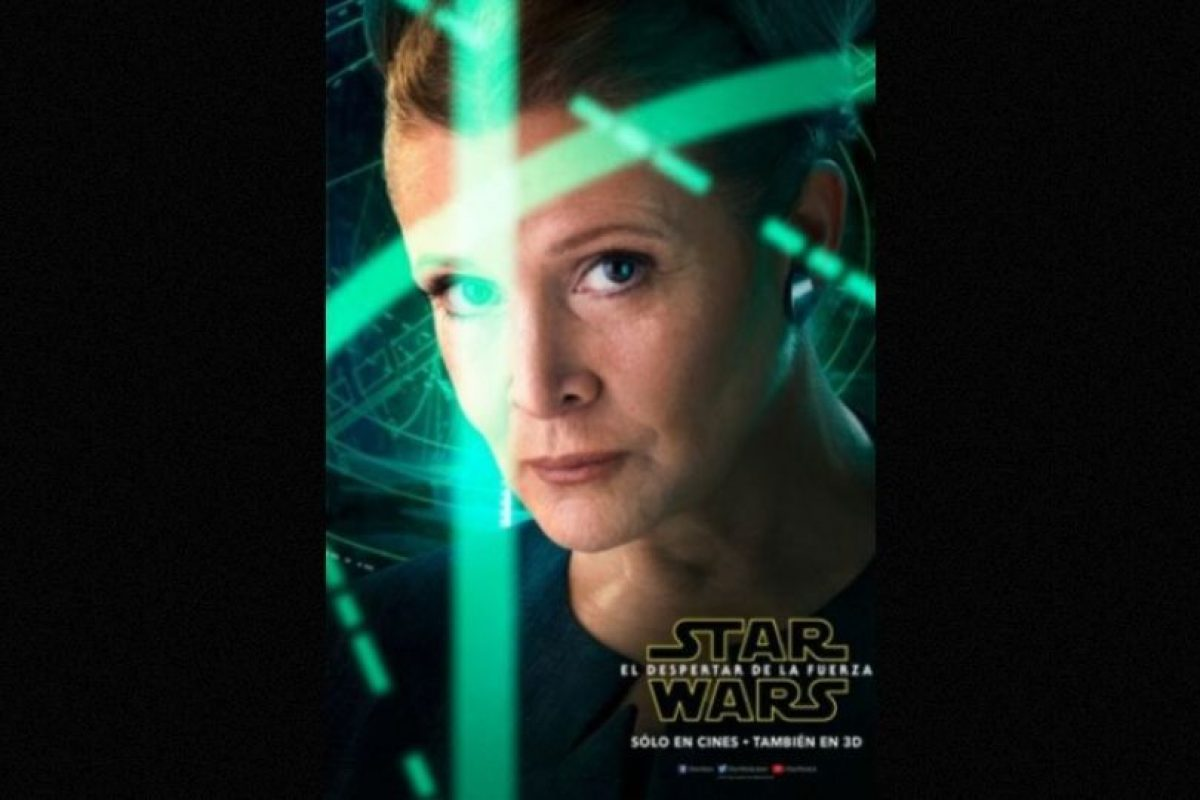 "Carrie Fisher como ""La Princesa Leia"" en nuevo póster de ""Star Wars: The Force Awakens"". Foto: Facebook/StarWars.LATAM. Imagen Por:"