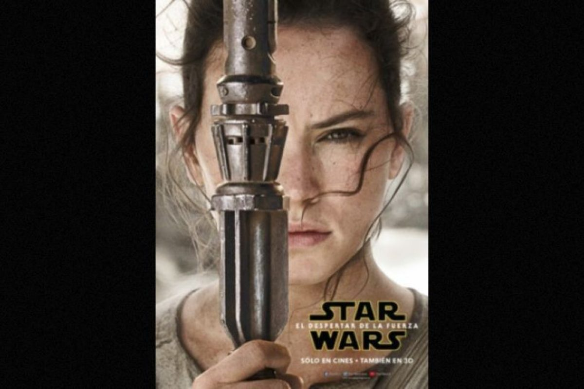 "Daisy Ridley como ""Rey"" en nuevo póster de ""Star Wars: The Force Awakens"". Foto: Facebook/StarWars.LATAM. Imagen Por:"