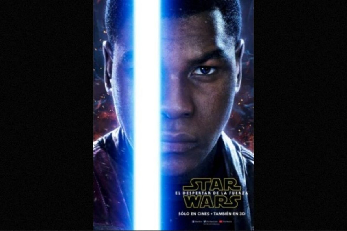 "John Boyega como ""Finn"" en nuevo póster de ""Star Wars: The Force Awakens"". Foto: Facebook/StarWars.LATAM. Imagen Por:"